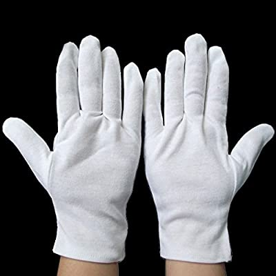 CellDeal-Un Pair de Gants Blancs en Cotton pour Musique Santé Toile Travail