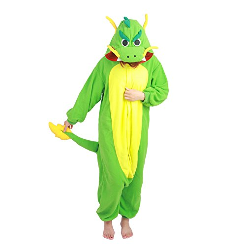[Datangep Halloween Unisex Winter Wear Pajamas Christmas Carnival Party Costume Dragon M] (One Night Stand Costume For Girls)