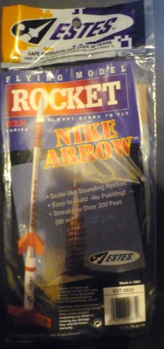 #0835 Estes E2X Series Nike Arrow Model Rocket Kit,needs Assembly