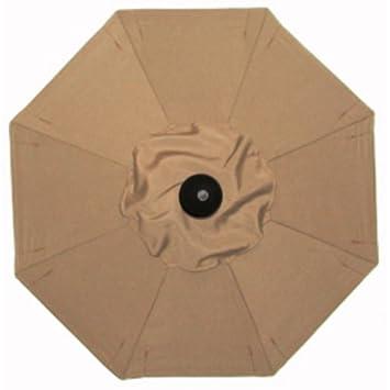 Fancy Wood Square Patio Umbrella