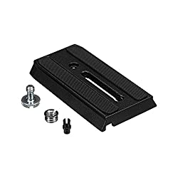 Manfrotto 501PL Rapid Connect Sliding Plate with 1/4'' and 3/8'' Camera Fixing Screws