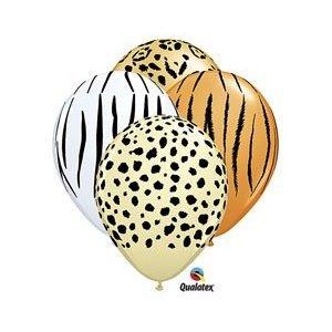 Safari Print Zebra Leopard Tiger Cheetah Print Latex Party Supply Balloons