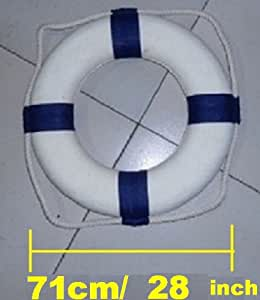 71cm Diameter Swim Foam Ring Buoy Swimming Pool Safety Life Preserver W Nylon Cover