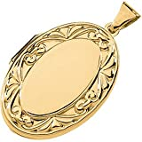 14K Yellow Gold Large Oval Locket