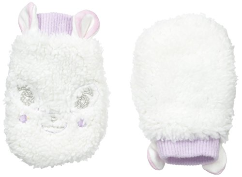 Pumpkin Patch Baby Girls' Dear Print Fluffy Mittens, Vanilla, One Size