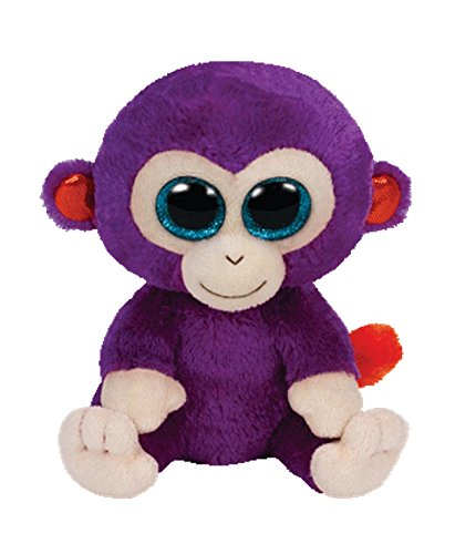 "Ty Beanie Babies Plush Grapes the Purple Monkey 6"" - 1"