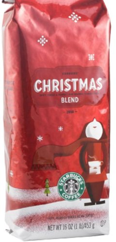 Starbucks Christmas Blend Coffee Beans 100 Arabica 1 pound bag