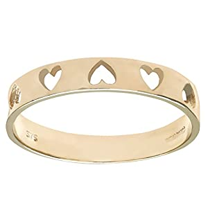 Luisant 9ct Yellow Gold Heart Ring Size R