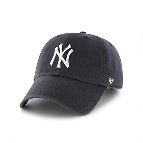 MLB New York Yankees '47 Brand Clean Up Adjustable Cap, One Size, Black (Mlb Yankees Cap compare prices)