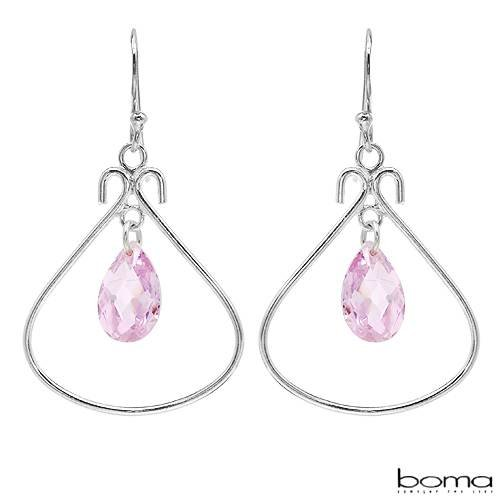 BOMA Stylish Earrings With 5.70ctw Cubic zirconia Made of 925 Sterling silver Length 38mm