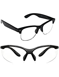 New Stylish UV Protected Combo Pack Of Sunglasses For Women / Girl ( ClearHFWayfarer-ClearNightVision ) ( CM-SUN...