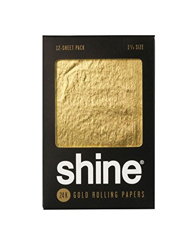 Shine 24K Gold Rolling Papers - 12 PK - 1 1/4""