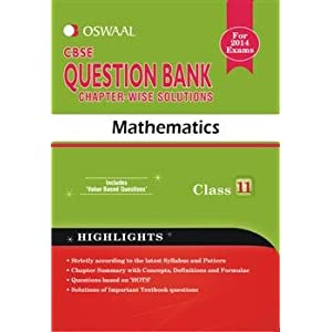 Oswaal CBSE Question Bank chapter-wise solutions, Mathematics for Class 11