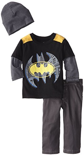 CAN DC Comics Baby Baby-Boys Infant Batman 3 Piece Pant and Beanie Set at Gotham City Store