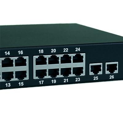 BV-Tech POE-SW2402LF 24 Port 250W POE Swit Channel (Gray)