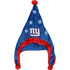 New York Giants NFL Official Team logo Stadium Dangle Santa Hat *NEW ITEM* by forever