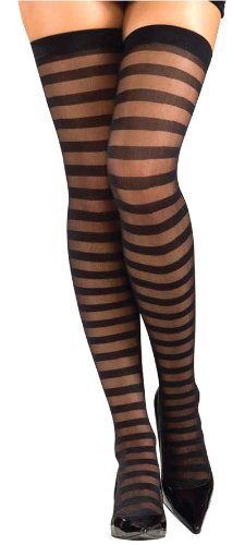 Opaque Thigh Highs - Stockings & Tights