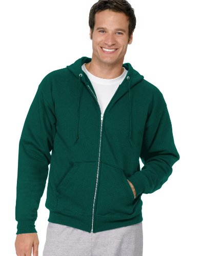 7.8 Oz. Comfortblend® Ecosmart® 50/50 Full-Zip Hood front-249644
