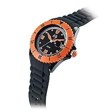 buy 40Nine Large 45Mm Black & Orange Watch