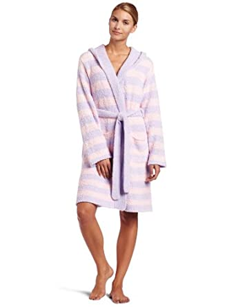 Casual Moments Women's Marshmallow Hooded Wrap, Pink/Lavender, Small