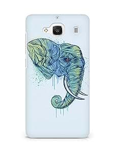 Amez designer printed 3d premium high quality back case cover for Xiaomi Redmi 2 (Elephant art illust drawing animal)