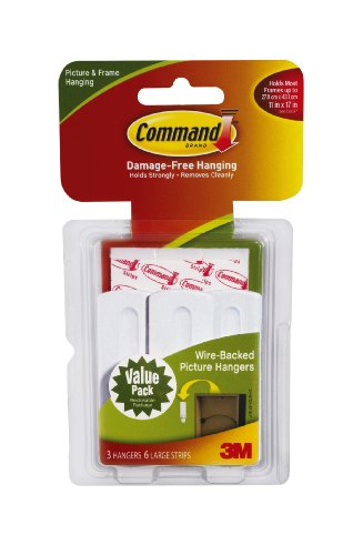 Command Wire Backed Picture Hangers 3 Hanger Holiday Deals