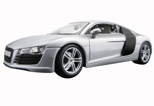 2008 Audi R8 diecast model car 1:18 scale die cast by Maisto - Light Blue Metallic 36143