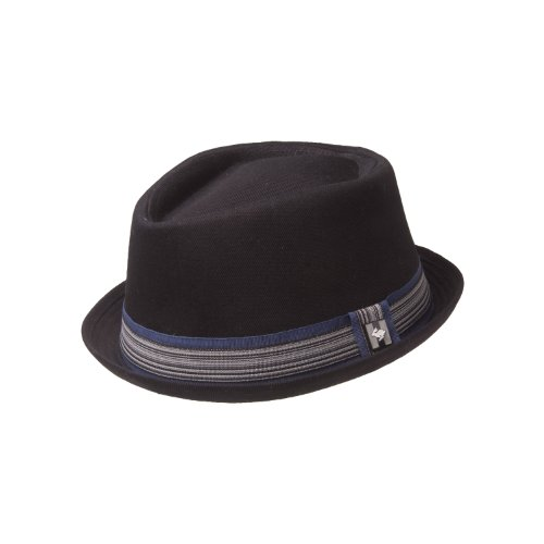 new-peter-grimm-ashton-cotton-pork-pie-stingy-brim-diamond-top-fedora-hat-l-xl