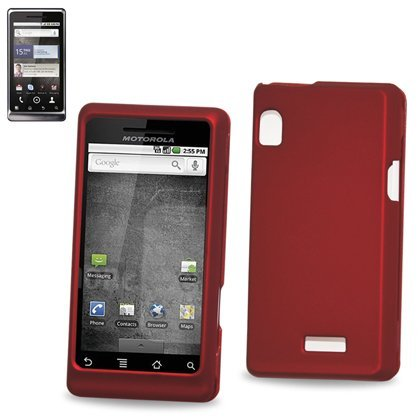 Hard Protector Skin Cover Cell Phone Case for Motorola droid 2 A955 Verizon - RED