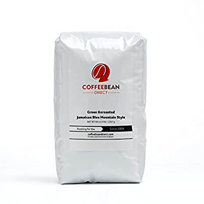 Green Unroasted Jamaican Blue Mountain Style, Whole Bean Coffee, 5-Pound Bag by Coffee Bean Direct