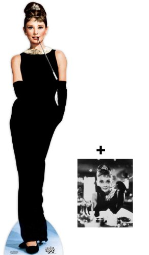 *FAN PACK* - Audrey Hepburn LIFESIZE CARDBOARD CUTOUT (STANDEE / STANDUP) - INCLUDES 8X10 (25X20CM) STAR PHOTO - FAN PACK #299 (Cult Movie Poster Pack compare prices)