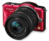 Panasonic Lumix DMC-GF3 12.1MP Compact System Camera Kit with 14-42mm Lumix G VARIO f/3.5-5.6 ASPH MEGA OIS Lens - Red