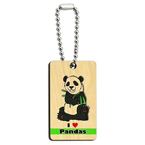 I-Love-Heart-Pandas-Bear-China-Bamboo-Wood-Wooden-Rectangle-Key-Chain