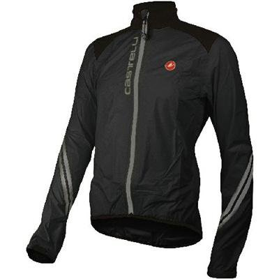 Buy Low Price Castelli 2012/13 Men's Goccia Cycling Rain Jacket – Black – B8550-010 (B003E8CQVQ)