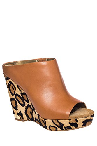 Kylie Open Toe High Wedge Mule