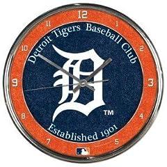 W2B - Detroit Tigers Round Chrome Wall Clock by W2B
