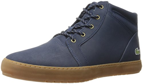Lacoste Women's Ampthill Chukka 416 1 Spw Fashion Sneaker, Navy, 10 M US