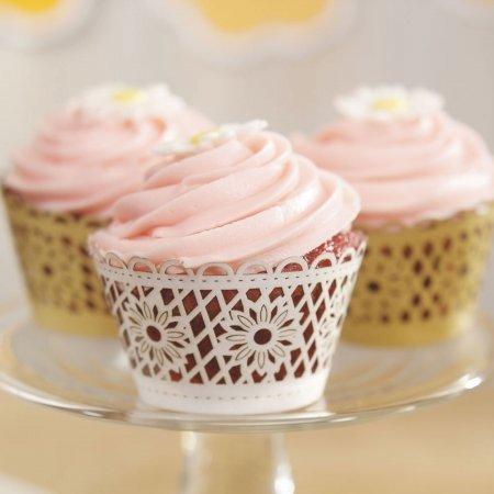 Weddingstar-9380-77-Floral-Art-Deco-Filigree-Paper-Cupcake-Wrappers-Silver