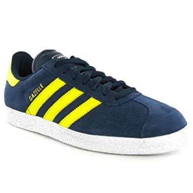 Adidas Gazelle 2 Blue Yellow Suede Mens Trainers Size 75