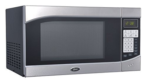 Oster OGH6901 0.9 Cubic Feet 900-Watt Countertop Digital Microwave Oven, Stainless Steel/Black (Microwave Oven Small Stainless compare prices)