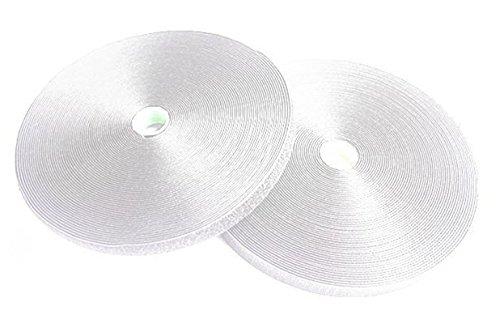 超強力 面 ファスナー 両面 テープ オス メス セット パイル アンド フック DIY 接着 用品 ホワイト 40mm x 3m