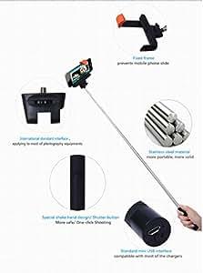 black selfie stick by buyinista for gopro sj4000 dslr cameras. Black Bedroom Furniture Sets. Home Design Ideas