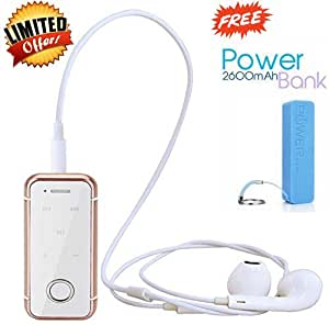 Original i6S Bluetooth V 4.0 Headsets Handsfree With Vibration & Call Function & Dolby Digital Sound Compatible with Apple iPhone and All Android Smartphones (Rose Gold)