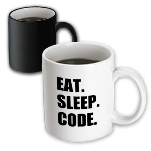 3dRose mug_180391_3 Eat Sleep Code Computer Coder Programmer Love To Program Coding Magic Transforming Mug, 11-Ounce