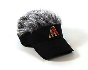 MLB Arizona Diamondbacks Flair Hair Adjustable Visor, Black