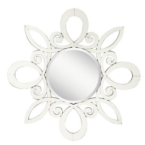 White Bedroom Vanity With Mirror front-65643
