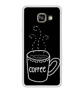 Coffee Clipart 2D Hard Polycarbonate Designer Back Case Cover for Samsung Galaxy A7 (2016) :: Samsung Galaxy A7 2016 Duos :: Samsung Galaxy A7 2016 A710F A710M A710FD A7100 A710Y :: Samsung Galaxy A7 A710 2016 Edition