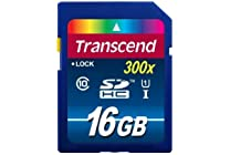 Transcend 300x 10 UHS SDHC Flash Memory Card, Various Sizes