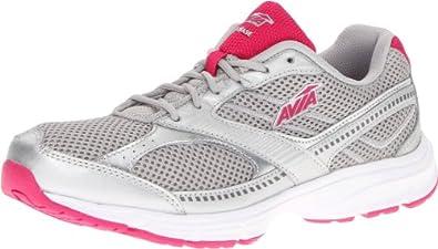 AVIA Women's Avi Chase Running Shoe,Chrome Silver/Zuma Pink,9 M US
