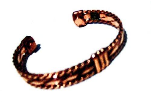 Bracelet magnétique de cuivre manchette